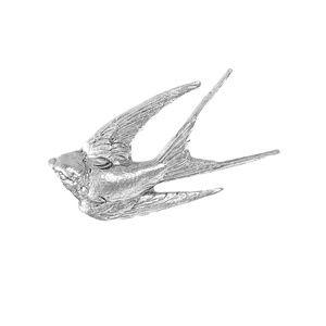 NEW In Flight Swallow Brooch Pin Bird Sparrow